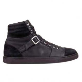 The Kooples Sport Suede & Leather High Top Sneakers