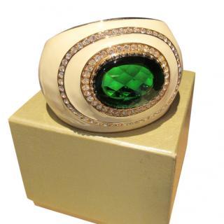 Roberto Cavalli crystal/enamel cuff