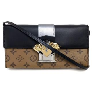 Louis Vuitton Monogram Column Crossbody Clutch