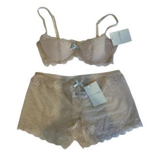 Ellen Macpherson Intimates Caramel Lace Lingerie Set