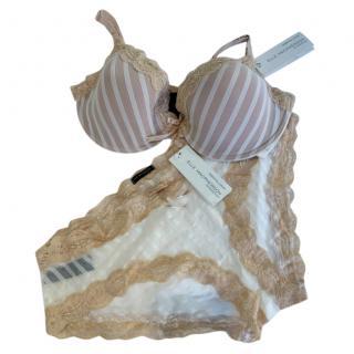 Ellen Macpherson Intimates Coco Striped Lingerie Set