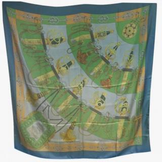 Hermes Cliquetis Dip Dye Silk Scarf 140