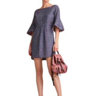 Burberry Blue Cotton Chambray Dress