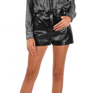 Saint Laurent Black Waxed Cotton Shorts