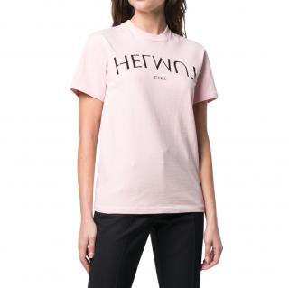 Helmut Lang Pink Printed T-Shirt
