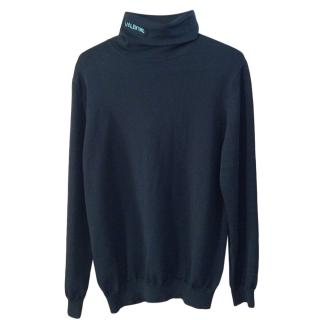 Valentino VLTN Black Rollneck Sweater