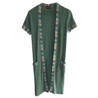 Missoni Green Printed Tie-Up Cardigan