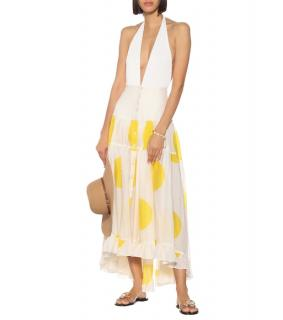 Alexandra Miro Penelope polka-dot cotton skirt