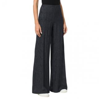 M Missoni Wide Leg Trousers in Black