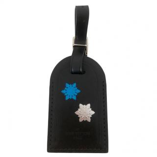 Louis Vuitton Snowflake Stamped Black Luggage Tag