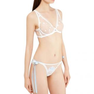 Agent Provocateur Laia Tie Side Brief in White And Blue