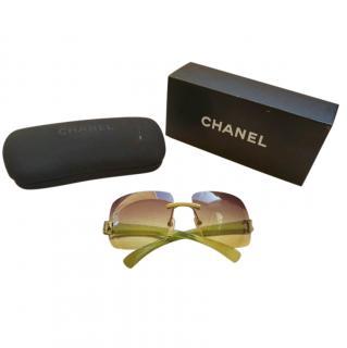 Chanel Vintage Square Oversize Sunglasses