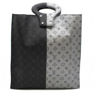 Louis Vuitton Black & Silver Split Monogram Runway Tote