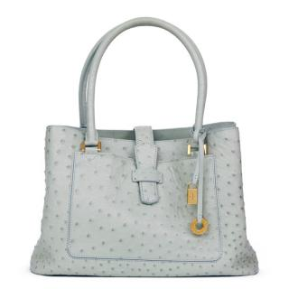 Loro Piana Ostrich Bellevue Tote Bag in Sage