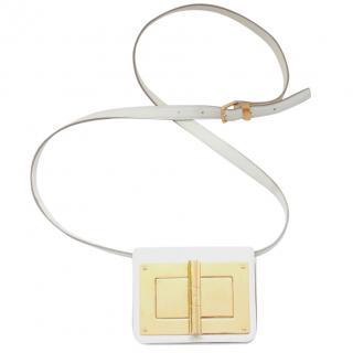 Tom Ford White Leather Natalia Mini Crossbody Bag