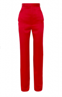 Haider Ackermann Satin Crepe Red Pants