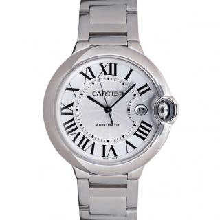 Cartier Men's 42mm Ballon Bleu Watch in 18k White Gold