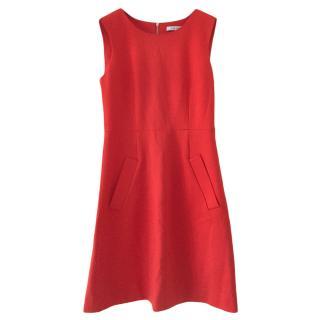 Diane Von Furstenberg Orange Sleeveless Dress