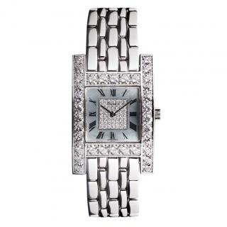 Chopard 24mm Mother of Pearl Diamond Your Hour Watch in 18k White Gold