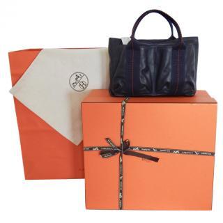 Hermes Indigo Swift Leather Horizontal Caravane PM