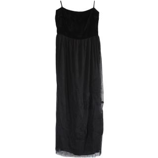 Moschino Cheap & Chic Black Strapless Maxi Dress