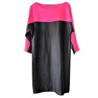 Ralph Lauren Black Label silk blend colour block dress
