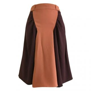 Prada Colour Block A-line Skirt