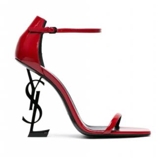 Saint Laurent Red Opyum Patent 100 Sandals