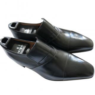 Vito Artoli Hand Made Leather Black Loafers