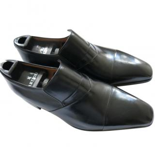 Vito Artoli Hand Made Leather Black Loafers
