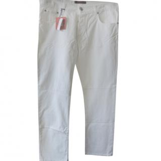 Isaia White Men's Classic Jeans