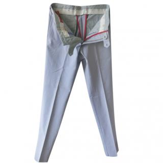 Isaia Lavender Tailored Chinos