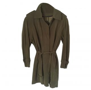 Burberry's olive green Belted Trench