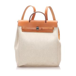 Hermes Canvas & Leather Herbag Backpack