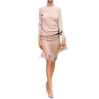 Prada Silk Chiffon Embellished Runway Skirt