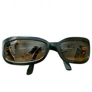 Chanel Black Classic Rectangle Sunglasses