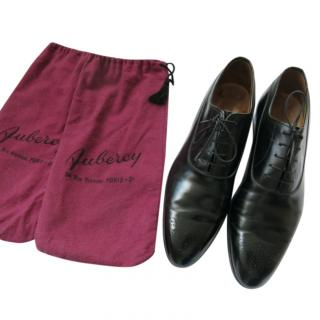 Aubercy bespoke black finest leather brogues