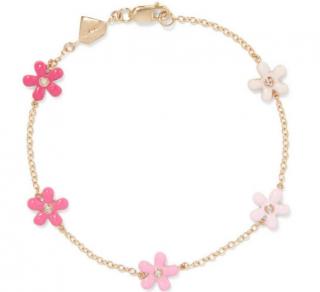 Alison Lou Wild Flower 14-karat Gold, Diamond & Enamel Bracelet