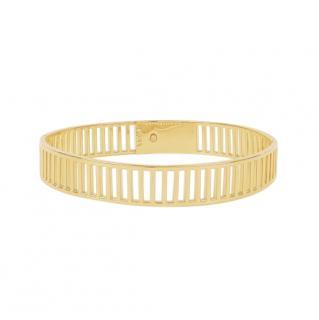 Arme De L'Amour 14k Yellow Gold Stripe Lock Choker
