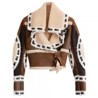 Dior by John Galliano Vintage Shearling & Suede Cropped Jacket