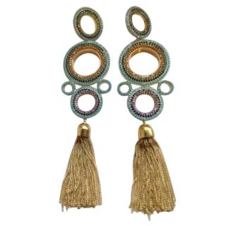 Joanna Laura Constantine Crystal Chandelier Tassel Earrings