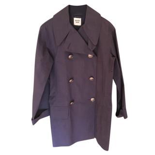 Hermes Navy Cotton Mackintosh