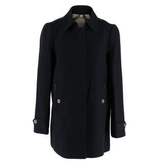 Burberry Brit Black Wool Blend Coat