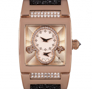 De Grisogono 18k Rose Gold 29mm Instrumentino Dual Time Watch