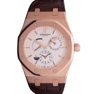 Audemars Piguet 39mm 18k Rose Gold Dual Time Royal Oak Watch