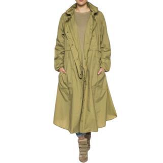 Isabel Marant Etoile Nylon Green Lightweight Rain Coat
