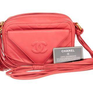 Chanel Vintage Leather Coral Pink Camera Bag