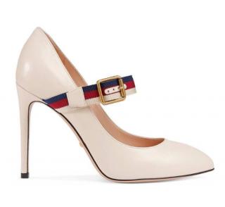 Gucci Sylvie leather mid-heel pumps