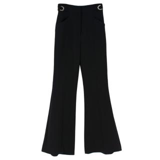 Proenza Schouler Black Flared Wool Blend Pants
