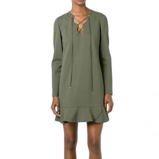 Emilio Pucci Lace-up Smock Dress in Green